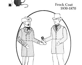 Men's 1830-1870 Civilian, Civil War Union or Confederate Frock Coat - Tailor's Guide Sewing Pattern
