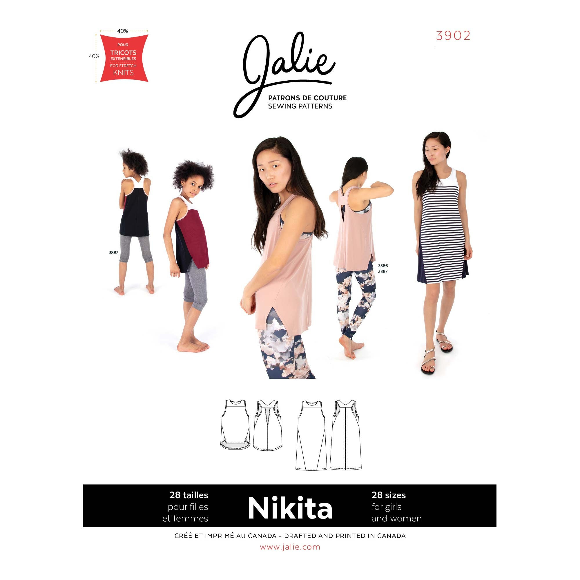 e60a8d35b722 Jalie Nikita Workout Tank & Swing Dress Sewing Pattern # 3902 ...