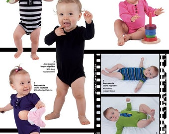 Jalie Baby's Bodysuit OneZ Sewing Pattern # 3133 in 9 Sizes Preemie - 24 Months