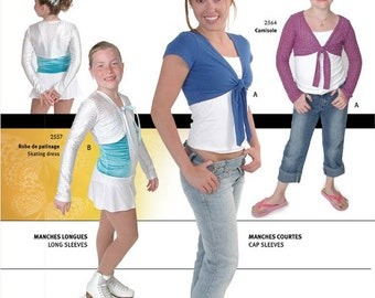 Jalie 2558 Boleros w/Sleeve & Front Corner Variations Sewing Pattern in 27 sizes Women and Girls