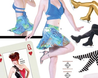 Jalie Wrap Halter Top, Skirt & Tights Dancewear Sewing Pattern # 3027 in 22 Sizes Misses and Girls