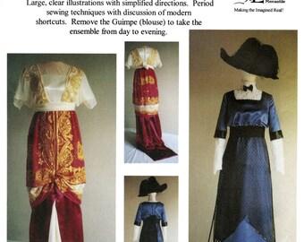 Ladies' 1909-1913 Day & Evening Dress sizes 2-26 Laughing Moon Sewing Pattern 104 - Titanic era