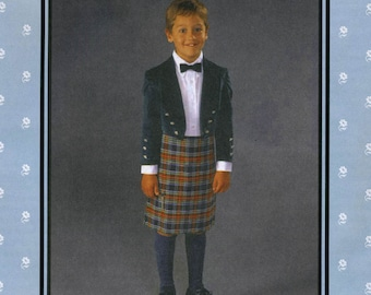 Folkwear Child's Scottish Kilt & Prince Charlie Jacket Sewing Pattern # 154 Boy's sizes 4-14