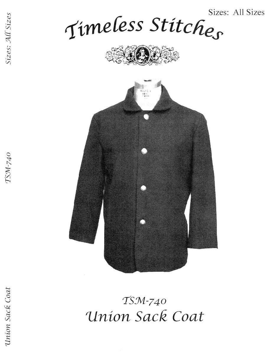 Men\'s Civil War Union Sack Coat Chest sizes 34-58 - Timeless ...