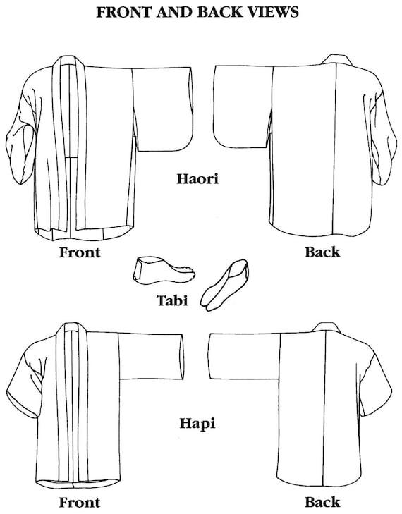 Folkwear Japanese Hapi and Haori (Shopcoat and Jacket), Tabi Slipper ...
