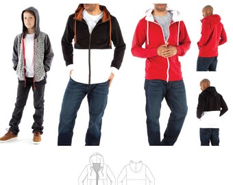 Jalie 3884 Frederic Hoodie Sewing Pattern in 27 Sizes Men's XS-XXL, Boys' 2-13