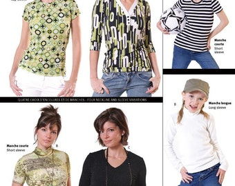 Jalie Women's & Girls' T-Shirts 4 Styles in 27 Sizes Sewing Pattern # 2805