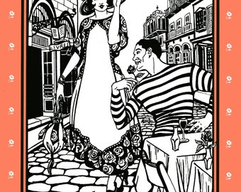 Folkwear Retro 1918-1920 Paris Promenade Dress & Handbag Sewing Pattern #261 Sizes XS-XL