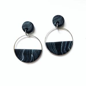 WINNIE Modern Polymer Hoop Earrings