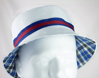 0b2e30600e9 Mens Bucket Hat White Cotton