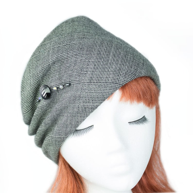 Black White Pillbox Hat  Women's Winter Wool Pillbox Hat image 0