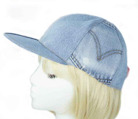 Womens Denim Baseball Cap Washed Denim Strapback Cap Light  eb1b0bebc9