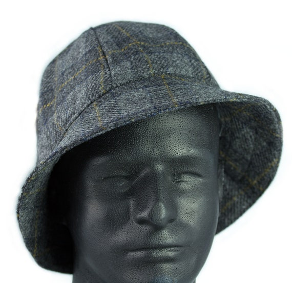 Mens Winter Hat English Walking Hat Gray Wool Winter  0985cb611b9
