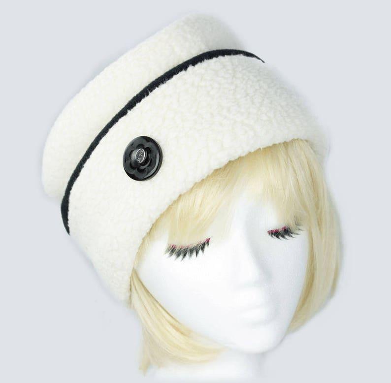 2e95fb1249c Womens Fleece Hat Warm Winter Beanie White Warm Beanie Hat