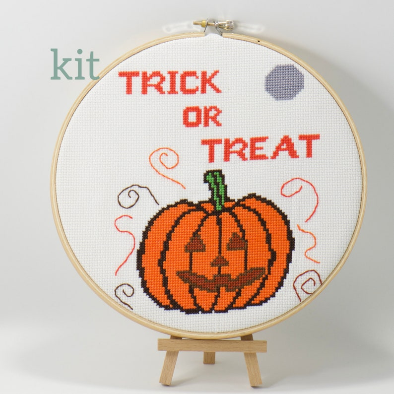 Halloween Treats Complete Cross Stitch Kit DIY Craft Project image 0