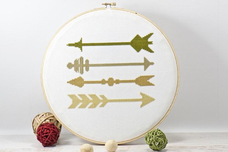 Arrows Cross Stitch Pattern Inspirational Wall Art image 0