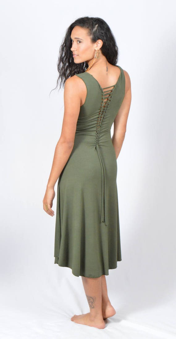 c50d363193324 Long Ladder Back Dress-Ladder Back Fairy Dress-Asymmetrical