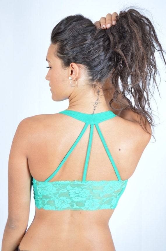 80c93aff35087 Bra Top Halter Top with Lace Tie Front or Back Fun Dance