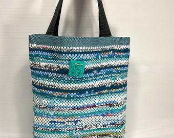 colorful purse diaper bag beach bag Rag rug bag college bag colorful messenger bag shopping bag large bohemian tote woven rag bag