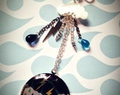 STORMY NIGHTS Mother of Pearl and Silver plated Locket on 17 quot silver plated ball chain