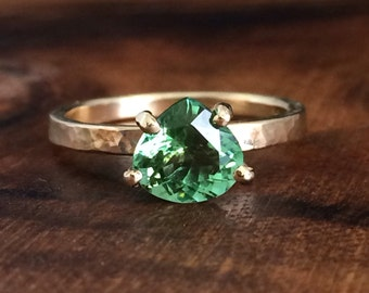 SALE - Pear Tourmaline Ring - Ready to Ship