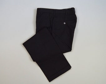 Vintage 1960s Black Trousers by Penneys Towncraft Size 30 x 29