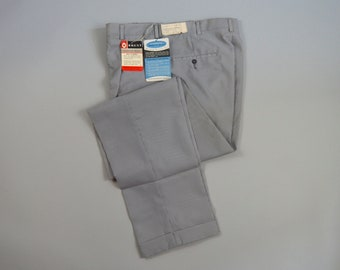 Vintage 1960s NOS Seersucker Trousers by Brent Size 32 x 32