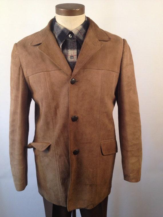 Vintage 40s/50s Handmade Suede Jacket Size 40
