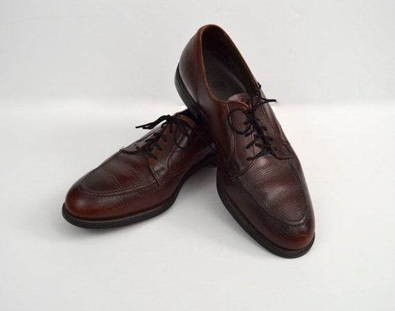 Vintage 1960s Mahogany Brown Pebble Grain Leather