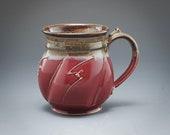 Handmade Pottery Mug Red ...