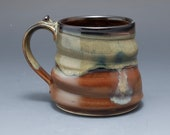 Handmade Pottery Mug Brow...