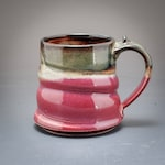 Handmade Pottery Mug Plum Red Brown Stoneware by Mark Hudak
