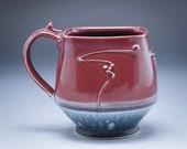 Handmade Pottery Mug Plum...