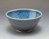 Handmade Pottery Bowl Blu...