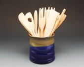 Handmade Pottery Blue Sto...