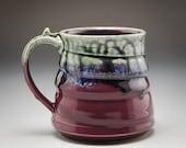 Handmade Pottery Mug Purp...