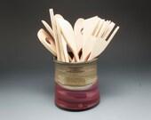 Handmade Pottery Plum Red...