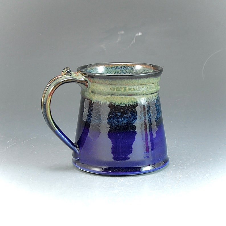 Handmade Pottery Mug Blue and Brown Stoneware by Mark Hudak image 0