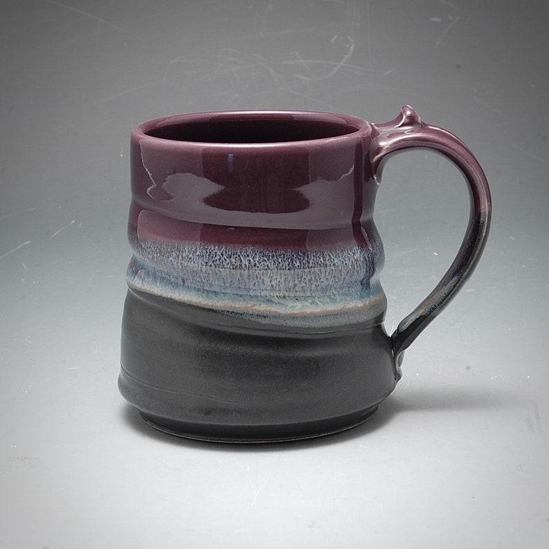 Handmade Pottery Mug Black and Purple Stoneware by Mark Hudak image 0