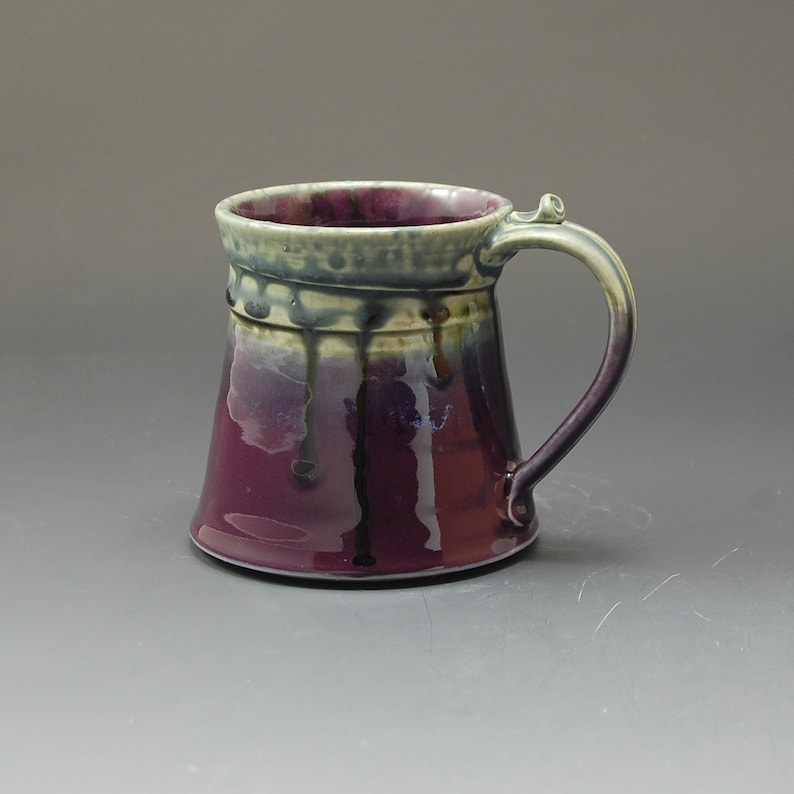Handmade Pottery Mug Purple and Green Stoneware by Mark Hudak image 0
