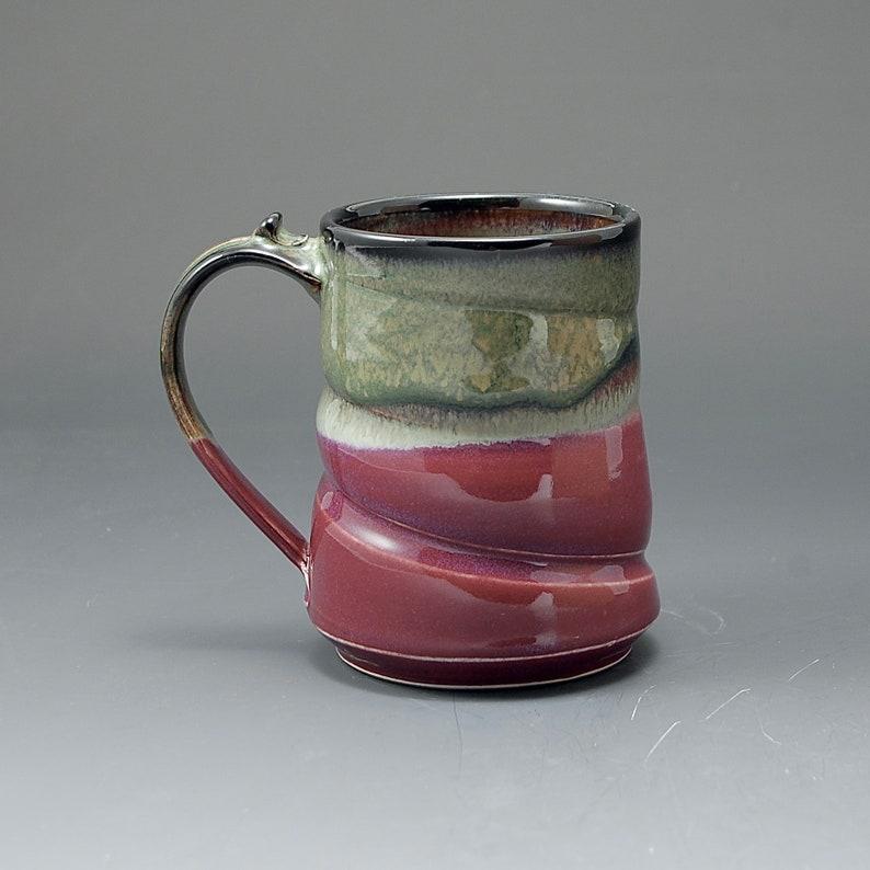 Handmade Pottery Mug  Red Brown Stoneware by Mark Hudak image 0