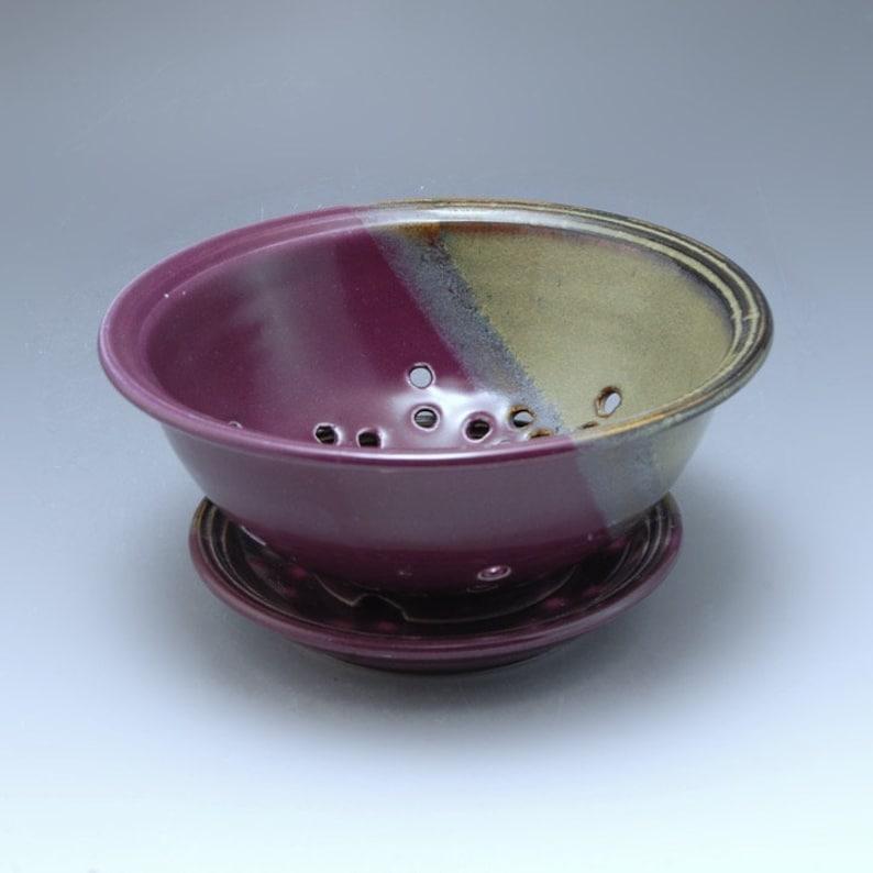 Handmade Pottery Berry Bowl Purple Brown by Mark Hudak image 0