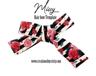 Hair bow Template 3.75 Finished bow Missy Template