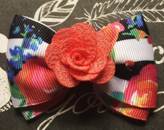 "2"" Floral Mini Bow"