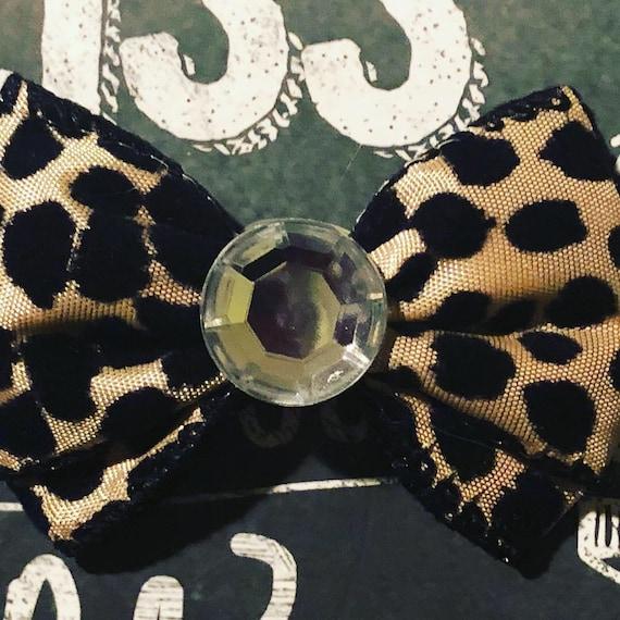 "2"" Classic Leopard Print Mini Bow- Dog Bows - Bows for Dogs  - Hair Bows for Dogs - Animal Print Bows - Leopard Print Bows"