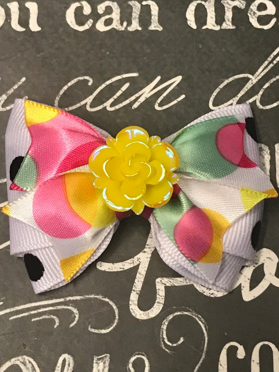 "2"" Mini Bows for Dogs or Girls - Polka Dot Bows -Dog Bows - Summer Bows"