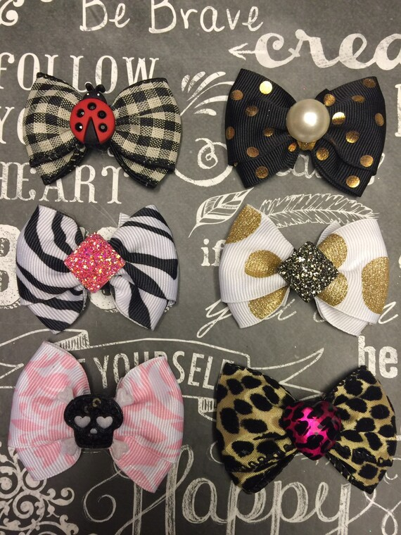 "Bows for Dogs or Girls - Any Occasion - Dog Bows - Mini 2"" - 2 for 8.95"
