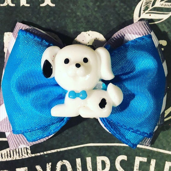 """2"""" Cute Puppy Double Layer Mini Bow - Dog Bows - Bows for Dogs - Bows for Girls - Chevron Print Bows"""