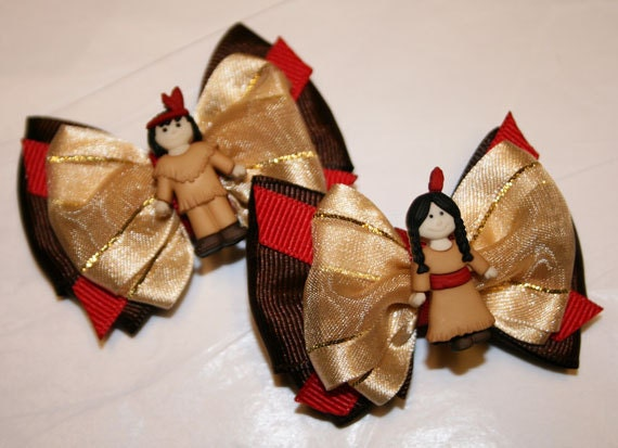 "2"" Thanksgiving Mini Bow Set - Bows for Fall - Bows for Thanksgiving - Bows for Girls - Dog Bows"