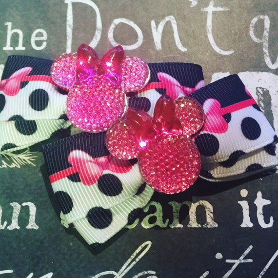 "2"" Minnie Mouse Mini Bow Set"